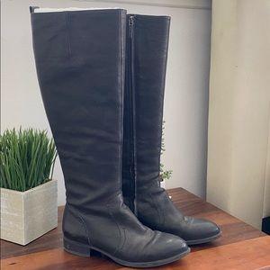 Nine West 100% leather black boots